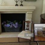 After7<br /><p>The existing Slasto fireplace which had seen better days, was removed and replaced with a new large, beautifully sculptured fireplace in stone which now provides a subtle focal point to the room, providing warmth, elegance and bringing new life to this once cold room.</p>