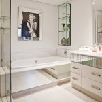 Bathroom-Detail<br /><p>Well considered open and concealed shelving.</p><p>Reflecting life with mirrors.</p>